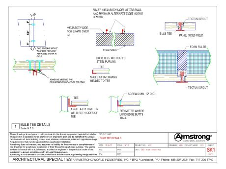 TECTUM I Drawing Files | Armstrong Building Solutions