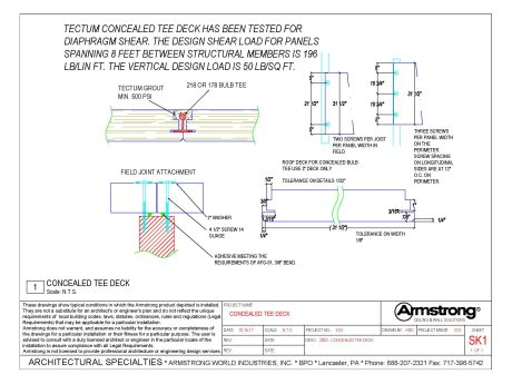 Tectum I Drawing Files Armstrong Building Solutions