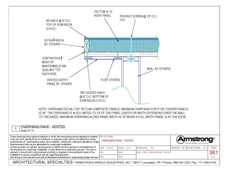 Tectum E Amp Tectum E N Drawing Files Armstrong Building