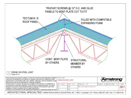 TECTUM E & TECTUM E-N Drawing Files | Armstrong Building