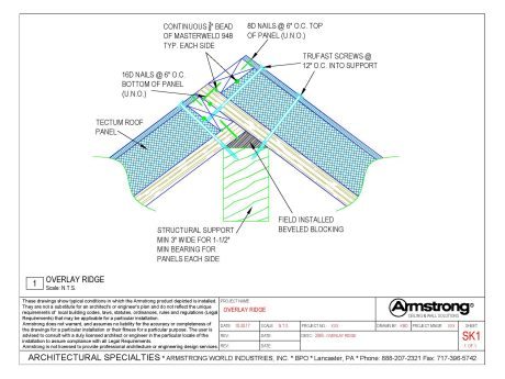 Tectum Iii Amp Iiip Drawing Files Armstrong Building Solutions